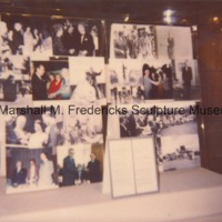 View of display of Marshall Fredericks-related photographs in the Marshall M. Fredericks Sculpture Museum.tif