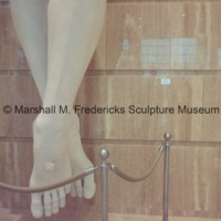 View of feet from the plaster model of Christ on the Cross in the Marshall M. Fredericks Sculpture Museum.tif