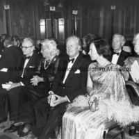 View of Jeremiah Milibank, Jr., Mrs. H. Lawrence Bogert, Marshall Fredericks and Princess Benedikte at the ICD Communications Award Dinner.jpg