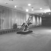 View of Night from Night and Day Fountain inside Henry J. McMorran Auditorium.jpg