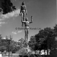 View of Star Dream Fountain in the center of Barbara Hallman Plaza in Royal Oak, Michigan.jpg