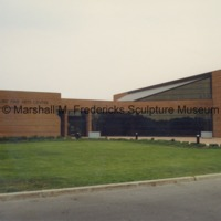 View of the Arbury Fine Arts Center - rear entrance to the Marshall M. Fredericks Sculpture Museum on the campus of Saginaw Valley State University.tif