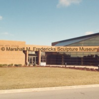 View of the Arbury Fine Arts Center - rear entrance to the Marshall M. Fredericks Sculpture Museum.tif
