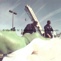 View of the central figures for Star Dream Fountain on a flatbed truck prior to its installation.jpg