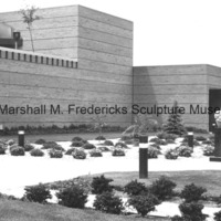 View of the exterior of the Marshall M. Fredericks Sculpture Museum and Sculpture Garden prior to the installation of Youth in the Hands of God.tif