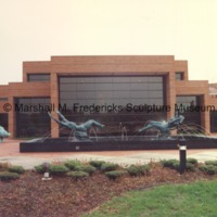 View of the exterior of the Marshall M. Fredericks Sculpture Museum from the Sculpture Garden.tif