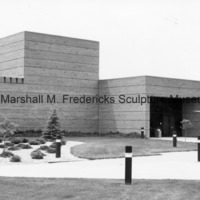 View of the exterior of the Marshall M. Fredericks Sculpture Museum prior to the installation of Youth in the Hands of God.tif
