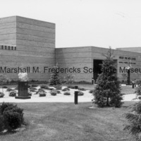 View of the exterior of the Marshall M. The Marshall M. Fredericks Sculpture Museum prior to the installation of Youth in the Hands of God.tif