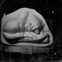 View of the plaster model for Raccoons for Spirit of Kentucky.tif