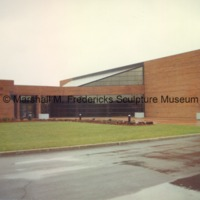 View of the rear entrance to the Arbury Fine Arts Center and the Marshall M. Fredericks Sculpture Museum2.tif