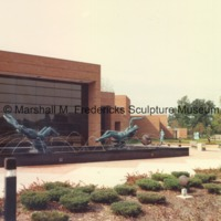 View of the Sculpture Garden outside the Marshall M. Fredericks Sculpture Museum.tif