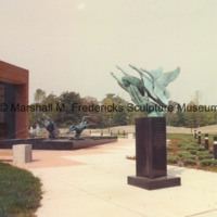 View of Wings of the Morning and Night and Day Fountain outside of the Marshall M. Fredericks Sculpture Museum.tif