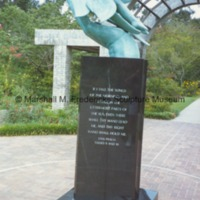 View of Wings of the Morning with Bible verse inscription of pedestal.tif